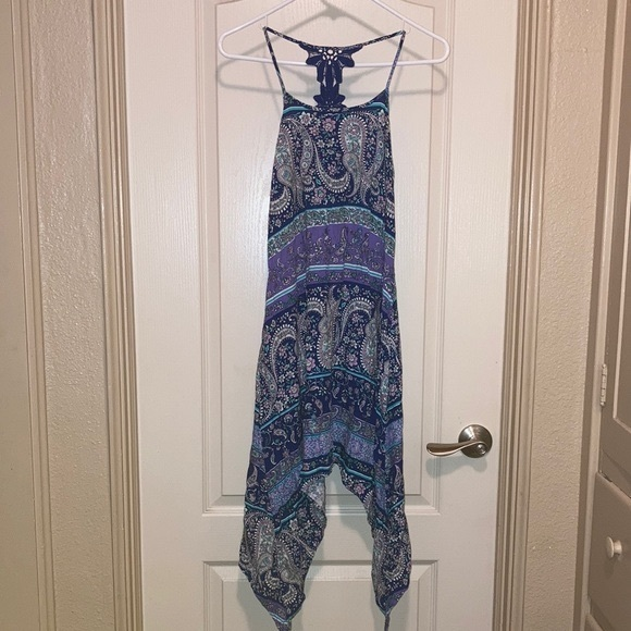 2/$20 Children's Place Blue & Purple Paisley Dress